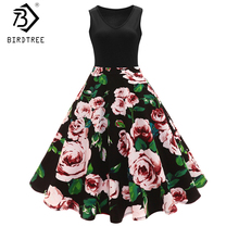 Buy Audrey Hepburn Sleeveless Print floral 50s 60s Vintage Dresses 2017 Spring Retro Dresses Retro Womens Clothings Hot Sale D7N425A for $17.85 in AliExpress store