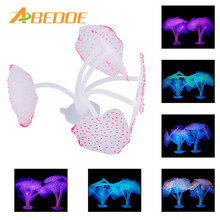 ABEDOE 6 Colors Artificial Coral Plant for Fish Tank Decorative Aquarium Reef Ornament Simulation Glow Fluorescent Coral Plant(China)