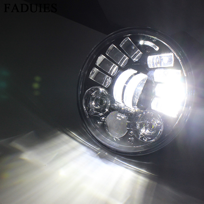 FADUIES 2018 New 5.75 inch Motorcycle Adaptive Cornering Led headlight For Harley 5-34 Motorcycle Black Projector Daymaker (11)