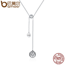 Buy BAMOER Genuine 925 Sterling Silver Tree Life & House Letter Link Chain Necklaces & Pendants Authentic Silver Jewelry SCN106 for $9.53 in AliExpress store