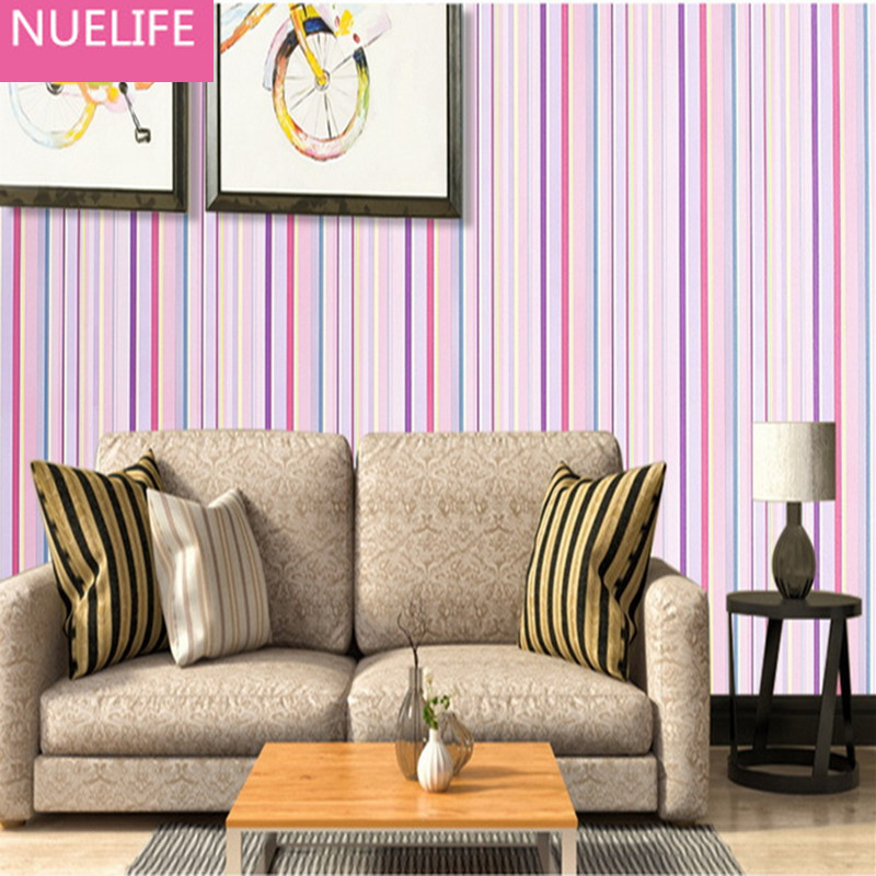 2PCS 0.45x10m self - adhesive wallpaper striped wall stickers furniture  living room bedroom kids room wedding room wallpaper<br>