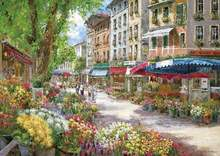 DIY oil painting flower market in Paris on the wall of the sitting room home decoration beautiful gift landscape 40 x 50 cm