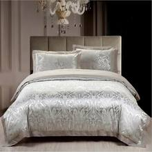 4pcs jacquard mulberry silk cotton bedclothes bedding sets queen king size Quilt duvet cover set bedsheets cotton bedcover