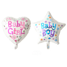 girl heart boy star happy birthday foil balloons birthday decorations air balloon one hundred days party supplies baby shower(China)
