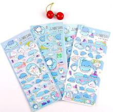 Creative Marine Organism Cartoon 3D Diary Sticker Scrapbook Decoration Stickers PVC Stationery DIY Stickers School Office Supply(China)