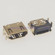 10pcs Gold Plating Copper 19PIN HDMI Jack Female Socket SMT 180 degree HDMI Port Interface(China)