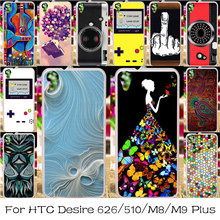 Silicone Plastic Case For HTC Desire 626 650 Housing Cover D650 628 A32 610 D510 One 2 M8 M9 PLUS M9+ Bag Shell Skin Case Cover