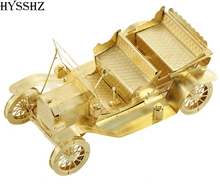 3D Metal Puzzle Ford T Vintage Golden Model Toys Children Gift Education Puzzle For Adults Jigsaw Puzzle For Adults And Kids