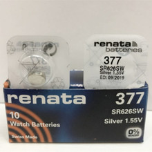2pcs RETAIL Brand New Renata LONG LASTING 377 SR626SW SR626 V377 AG4 Watch Battery Button Coin Cell Swiss Made 100% Original(China)