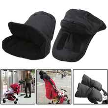 1 Pair Baby Pram Stroller Gloves Warm Fleece Pushchair Hand Gloves Baby Buggy Clutch Cart Muff Gloves Stroller Accessories(China)