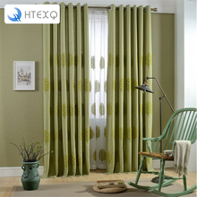 Brand New drapes insulated blackout curtains living room pastoral leaves Window Curtain Valance