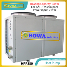88KW titanium heat pump water heater for 125~175sqm commerce swimming pool, please consult us about shipping costs