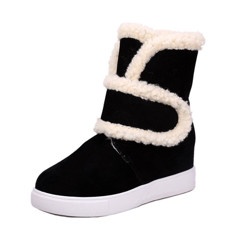 Fur one frosted face winter warm snow boots 2017 new high-quality flat-bottomed anti-ski shoes<br><br>Aliexpress