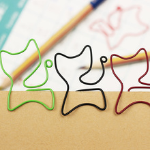 24PCS/lot Cat Shape Paper Clips Creative Interesting Bookmark Clip Memo Clip Shaped Paper Clips for Office School Home
