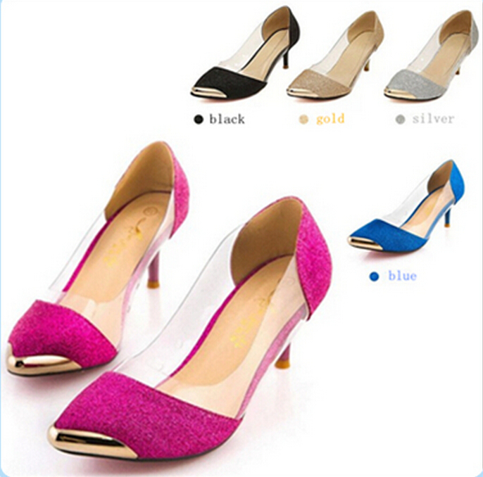 2015 Summer Women Shoes red bottom high heels Metal Head Pointed Sexy Women Pumps Wedding Shoes For Women sapato feminino<br><br>Aliexpress