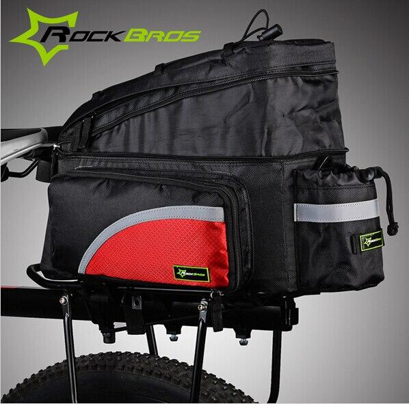 Rockbros Bike Bag Rear Carrier Bag Rear Pack Trunk Pannier Black With Rain Cover New<br><br>Aliexpress