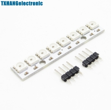 WS2812 5050 RGB LED Lamp Panel Module 5V 8-Bit Rainbow LED Precise development board for arduino(China)