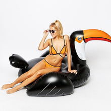 Inflatable Toucan Pool Floats Adults Kids Summer Swimming Party Ring Fun Beach Bed Water Raft Floating Island Buoy Toys Pontoon(China)