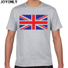 Joy Only Brand Men T Shirt Cotton Union- Jack Clothing Male Slim Fit Man English Flags T-Shirts Skateboard Swag Clothing TA55