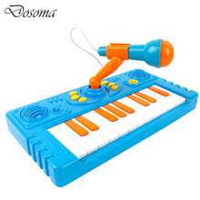 Electronic Organ With Microphone Children Educational Keyboard Musical Instrument Plastic Piano Toys Baby Kids Baby Musical Toys