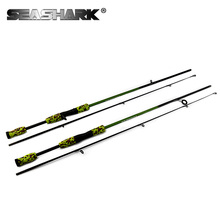SEA SHARK 2 section M Power lure rod lure weight 1/8-3/4 oz line weight 6-15LBS 1.72m spinning rod casting rod(China)