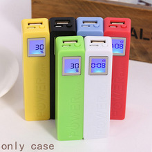 For 2600mAh USB LCD Power Bank Case 18650 Battery Charger new Box Kit 6 Colors