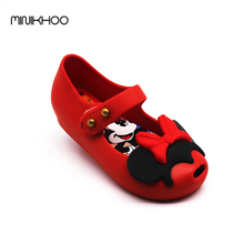 Mini Melissa 2017 Cute Twins II Mickey Minnie Jelly Melissa Girls Shoes Mini Jelly Shoes Anti-Skid High Quality Girls Shoes(China)