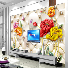 beibehang Custom 3D Photo Wallpapers Abstract Flower Soft Pack 3d Wall paper Living Room Sofa TV Background Decorative(China)