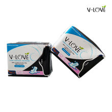 2 Packs=16pieces VLOVE Overnight Woman's Sanitary Towels with Patented Anion Strip(China)