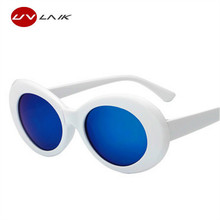 UVLAIK NIRVANA Kurt Cobain Sunglasses Women Men Fashion Sun Glasses Female Male Women's Glasses UV400 Mirrored