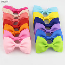 DPSaiLYY 2 PC Free Shipping Ribbon Bows Children Hairpins and Clips Gift Kids Girl 20 Colors Hair Barrettes Accessories Headwear(China)