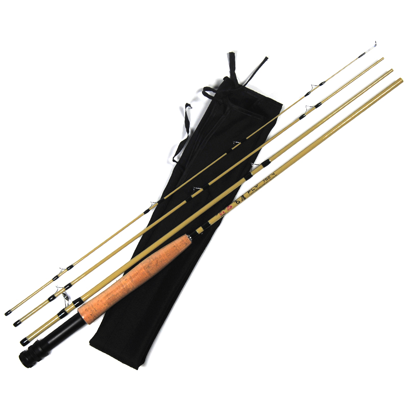 Graphite #2 Fly Fishing Rod 7.6FT 2.4m 2WT 4 Sections Nymph Fly Rod Carbon Fiber Casting<br><br>Aliexpress
