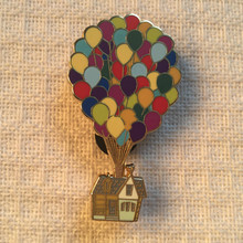 Disney Badge Holder Pins UP Flying Round Travels Karl's Hot Air Balloon House Souvenirs