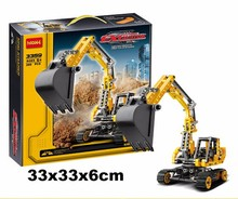 3359 Track mobile excavator building blocks kids Technology Series Site bricks Toys Educational Crawler compatiable with lego