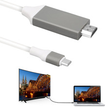 "USB 3.1 Type C to HDMI TV HDTV Audio Video AV Cable Adapter for MacBook 12"" Pro Google ChromeBook Samsung Galaxy S8 Plus(China)"