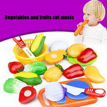 Hot 12PCS Cutting Fruit Vegetable Pretend Play Children Kid Educational Toy High Quality Simulation Classic Toys Lowest price(China)
