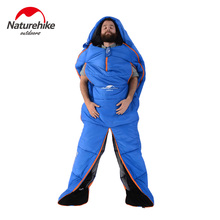 Naturehike 1 Person Body Type Cotton Sleeping Bag 2 Colors Portable Winter Ultralight 2100mmx800mm Camping Travel Lazy Bag(China)