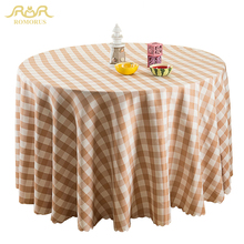 ROMORUS Modern Plaid Round Tablecloths Restaurant Table Cloth Round Table Coffee Dustproof Dining Table Covers toalha de mesa