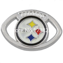 Enamel Finish Pittsburgh Steelers Logo Connector Charm Diy Jewellery Making Alibaba Express Sale(China)