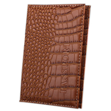 PU Leather Protective Cover Travel Case Protective Case passport holder, chocolate