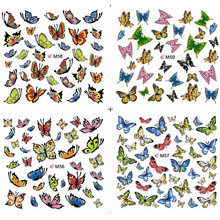 1sheets Hot Designs Beauty Bow Butterfly Stickers Decals of Nail Art Manicure Tools Nail Decorations Polish Full Tip M56-59(China)