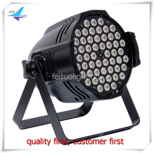 free shipping flycase 12pcs 54x3w RGB LED Par Can Light DMX Digital Display Sound Auto DJ Disco Party Stage Lights -O