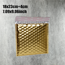 18*23cm(7.09*9.06inch) 20pcs Gold aluminum Padded Shipping Envelope Metallic Bubble Mailer Aluminum Foil Gift Bag Packing Wrap