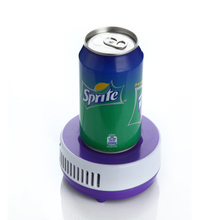 USB drink cooler mini fridge office table fridge cup cool and heating cup 5V