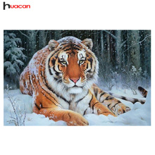 DIY 5D Diamond Mosaic Tiger Diamond Painting Cross Stitch Kits Animal Diamond Embroidery Patterns Rhinestones Handmade Hobby(China)