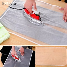 Behogar 40 x 90cm Washable Ironing Board Heat Resistant Mesh Protective Guard Cloth Cover Pad Garment Protector Random Color(China)