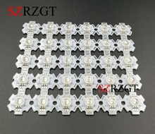 50pcs 3W RGB Color 6pin LED Chip LED Light Lamp Part With 20mm Star Base