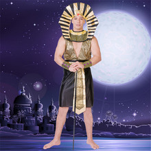 Egyptian Pharaoh cosplay Costumes Halloween Party Adults Clothing Egyptian Pharaoh King Men Fancy Dress Costume For Halloween