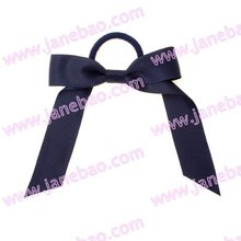 free shipping 120pcs Pony O Hair Bow Ponytail Streamers mix color ponytail holder bows