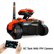 RC Tank with HD Camera ATTOP YD-211 Wifi FPV 0.3MP Camera App Remote Control Spy Tank RC Toy Phone Controlled Robot(China)